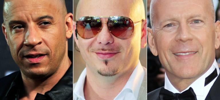 12 famosos que se ven mejor calvos